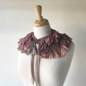 Mauve Silk Ruff