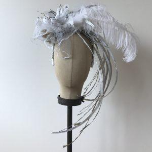 Stunning in Silver Bridal Fascinator 5